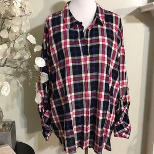 CATO PLATED PLUS SIZE BLOUSE